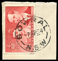 Lot 804:Bowral: - 'BOWRAL/7AP54/N.S.W' on 3½d Royal Visit.  Renamed from Bowrall PO 1/2/1888.