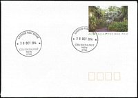 Lot 816:Charles Sturt University: - 2 strikes of 'LICENSED POST OFFICE/30OCT2014/CSU BATHURST/NSW/2795' on Postage Paid PSE.  LPO 3/7/1995.