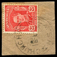 Lot 5745:Church Point: - 'CHURCH POINT/18FE46/=N.S.W=' on 2½d red KGVI.  RO 1/1/1909; PO 15/5/1912.