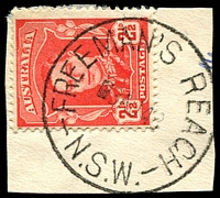 Lot 1251:Freeman's Reach: - 'FREEMAN'S REACH/8AU48/N.S.W.' on 2½d red KGVI.  PO 1/1/1884.