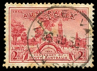 Lot 887:Hartley Vale (2): - 'HARTLEY VALE/26NO36/N.S.W.' on 2d SA Centenary.  PO 1/8/1873; closed 31/10/1967.