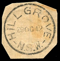 Lot 896:Hillgrove: - 'HILLGROVE/29OC42/N.S.W.' on piece.  PO 1/6/1884; closed 31/5/1979.
