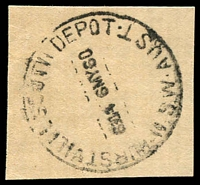Lot 916:Hurstville South Depot: - 'HURSTVILLE SOUTH DEPOT/630A6MY60/N.S.W-AUST' on piece.  PO c.-/11/1943; closed c.1980.