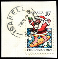 Lot 922:Isabella: - 'ISABELLA/29DE77/N.S.W' (LRD) on 15c Xmas.  RO 15/2/1896; PO 1/7/1898; TO 1/4/1980; closed 3/9/1986.