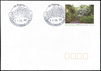 Lot 1011:Murwillumbah: - 2 strikes of pictorial 'Mt. Warning/{rain forest}/11JUL2014/MURWILLUMBAH NSW 2484' on Postage Paid PSE.  Renamed from Kynnumboon PO 15/4/1882.