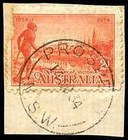 Lot 1045:Prospect: - 'PROSPECT/14NO34/N.S.W.' on 2d Vic Centenary (faulty).  PO 1/1/1856; closed 21/12/1972.