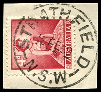 Lot 1115:Strathfield: - 'STRATHFIELD/1?FE59/N.S.W' (Type 2A - LRD) on 4d red QEII.  Renamed from Redmyre PO 1/4/1886.