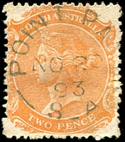 Lot 10225:Point Pass: - unframed 'POINT PAS[S]/NO20/93/S_A' on 2d orange DLR.  PO c.1871; closed 29/1/1982.