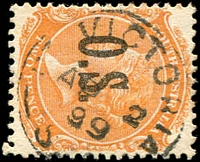 Lot 10246:Port Victoria: - framed 'PT VICTORIA/AP2/99/S_A' on 2d orange DLR opt 'O.S.'.  PO 1/5/1877.