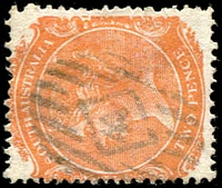 Lot 1597:4: on 2d orange DLR.  Allocated to Alberton-PO 1/1/1855.