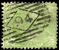 Lot 1622:94: on ½d green.  Allocated to Port Augusta-PO c.-/7/1856.