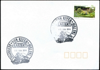 Lot 1848:Devonport: - 2 strikes of pictorial 'DON RIVER/RAILWAY/06JAN2014/DEVONPORT TAS 7310' on 70c Open Gardens on unaddressed cover.  Renamed from Devonport West PO 1/5/1929.
