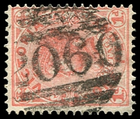 Lot 2310:2060: '2060' on 1d pink. [Rated 3R]  Allocated to Clifton Springs-PO 12/3/1902; closed 8/8/1921.