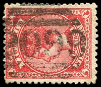 Lot 2321:2099: '2099' on 9d red Bell. [now Rated 5R - A similar example realised $290 in sale #31.]  Allocated to Victoria Street, Richmond-PO 3/12/1906; renamed Richmond North PO 1/11/1924.