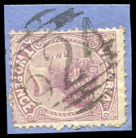 Lot 2093:624: on 2d violet. [Rated 2R]  PO 1/1/1868; closed 11/9/1893.