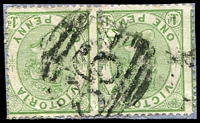 Lot 2063:864: '864' on 1d Bell pair. [Rated 2R]  Allocated to Pine Lodge-PO 24/11/1874; closed 8/7/1895.