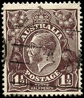 Lot 179:1½d Black-Brown Die I - [2L15] small spur near base of large 1 in RVT.