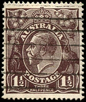 Lot 177:1½d Black-Brown Die I - BW #83(1)i [1R25] White spot on back of King's neck, Cat $40.