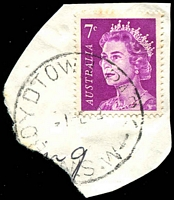 Lot 805:Boydtown Park: - 'BOYDTOWN PARK/-1FE72/N.S.W' on 7c purple QEII.  TO 24/11/1936; PO 1/6/1961; closed 28/11/1975.