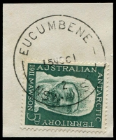 Lot 6789:Eucumbene (2): - 'EUCUMBENE/15NO61/2/NSW-AUST' on 5d Antarctic.  Renamed from Adaminaby Dam PO 1/7/1959; closed 11/12/1967. [Snowy Mountains Scheme]