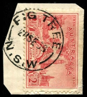 Lot 1267:Fig Tree: - 'FIG TREE/28SE36/N.S.W' on 2d SA Centenary.  PO 1/8/1867.