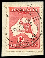 Lot 1286:Glen Alice: - 'G[LE]N ALICE/18OC14/N.S.W' (ERD) on 1d Roo.  PO 1/1/1869; closed 15/10/1985.