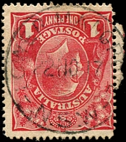 Lot 980:Lower Mangrove: - 'LOWER MANGROVE/22NO17/N.S.W' on 1d red KGV.  RO 22/6/1887; PO 22/9/1890; closed 22/5/1969.