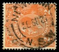 Lot 1363:Newtown: - 'NEWTOWN/26SE21/=N.S.W=' (Type 2B) on 2d orange KGV. [Previously recorded for 1921 only.]  PO 1/3/1854.