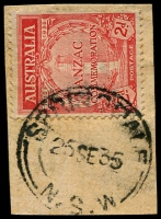 Lot 1449:Springdale: - 'SPRINGDALE/25SE35/=N.S.W=' on 2d ANZAC.  PO 1/11/1897; closed 30/9/1977.