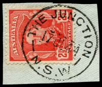 Lot 7471:The Junction: - 'THE JUNCTION/17JL44/N.S.W' on 2½d red KGVI.  PO 1/4/1860.