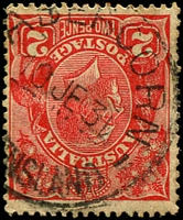 Lot 8412:Abercorn: - 'ABERCORN/10JE31/[QUE]ENSLAND' (inverted year wheel) on 2d red KGV.  PO c.-/2/1928; closed 11/6/1986.