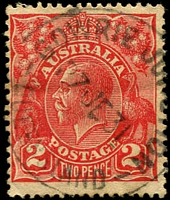 Lot 1459:Gowrie Junction: - 'GOWRIE JUNCTION/27JE31/QUEENSLAND' on 2d red KGV.  PO 24/4/1876; renamed Gowrie PO 24/8/1961.