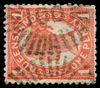 Lot 1684:100: rays on 1d 4-Corners pair.  Allocated to Cunnamulla-PO 1/3/1868.