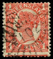 Lot 1685:102: rays on 1d 4-Corners. [Rated R]  Allocated to Norley-PO 1/3/1868; replaced by Thorgomindah PO 31/12/1869.