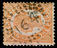 Lot 8142:164: rays on 1d Void-Oval. [Rated R]  Allocated to Mooloolah-PO 1/8/1872; renamed Bury's RO 1/3/1891; Re-allocated to Mooloolah PO 1/3/1891.
