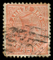 Lot 1710:194: '194' on 1d orange Lined-Oval. [Rated R]  Allocated to Kelvin Grove-PO 1/8/1874; RO 1/5/1883; closed c.1901.