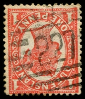 Lot 1714:227: BN on 1d 4-Corners.  Allocated to Cairns-PO 7/10/1876; renamed Orchid Plaza PO 1/5/1991.