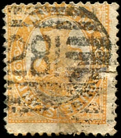 Lot 1345:281: BN on 1d Void-Oval.  Allocated to Southport-PO 2/3/1878.