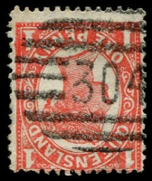 Lot 1733:304: '304' BN on 1d 4-Corners. [Rated R]  Allocated to Kuranda-Renamed from Middle Crossing PO 25/6/1891.
