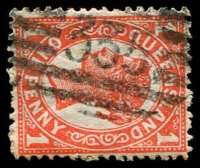 Lot 1741:335: BN on 1d 4-Corners. [Rated R]  Allocated to Barratta-PO 19/5/1882; RO 1/5/1885; closed c.1895.