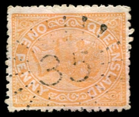 Lot 1656:35: rays on 1d orange. [Rated 2R]  Allocated to Logan Reserve-PO 1/4/1864; closed 1/4/1877; Re-allocated to Logan Reserve PO 27/10/1877; RO c.-/11/1909; closed c.1920.