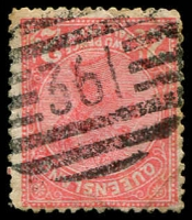 Lot 1747:361: BN on 2½d Lined-Oval. [Rated 2R]  Allocated to Pine Hill-PO 1/11/1883; closed 31/1/1977.