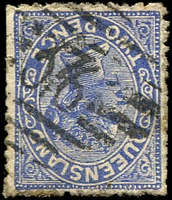 Lot 1356:376: BN on 2d Lined-Oval. [Rated R]  Allocated to Buderim Mountain-RO 1/4/1874; PO 1/6/1884; renamed Buderim PO c.1897.