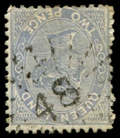 Lot 1662:48: rays on 2d Lined-Oval.  Allocated to St. Lawrence-PO 1/1/1864.