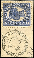 Lot 1378:568: unframed duplex 'CHARTERS TOWERS/SP18/6???30/99/QUEENSLAND - 568' on 2d 4-Corners.  Allocated to Charters Towers-PO 17/5/1872.