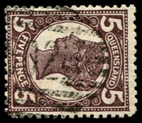 Lot 1780:602: '602' BN on 5d 4-Corners. [Rated R]  Allocated to Ebagoolah-PO c.1900; closed 11/1/1917.