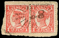 Lot 1681:88: rays on 1d 4-Corners pair. [Rated 2R]  Allocated to Spring Creek-PO 10/1/1867; RO c.1913; PO 1/7/1927; closed 11/11/1953.