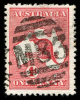 Lot 2549:1083: right half of unframed duplex on 1d Roo.  Allocated to Nathalia-PO 7/9/1878; LPO 1/2/1995.