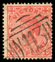Lot 2461:113: 1st type on 1d pink.  Allocated to Schnapper Point-PO 21/5/1856; renamed Mornington PO 16/8/1864.
