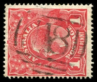 Lot 2463:118: on 1d red KGV. [Rated SS]  Allocated to Batesford-PO 18/8/1856; TO 3/6/1942; closed 31/1/1949.